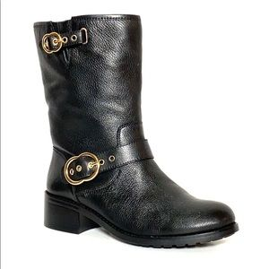 Vince Camuto Wilan Black Leather Riding Boots 9